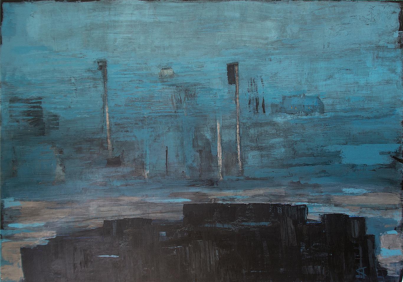 Öppet landskap: Mått: 122 x 90 cm. Material: Akryl.
