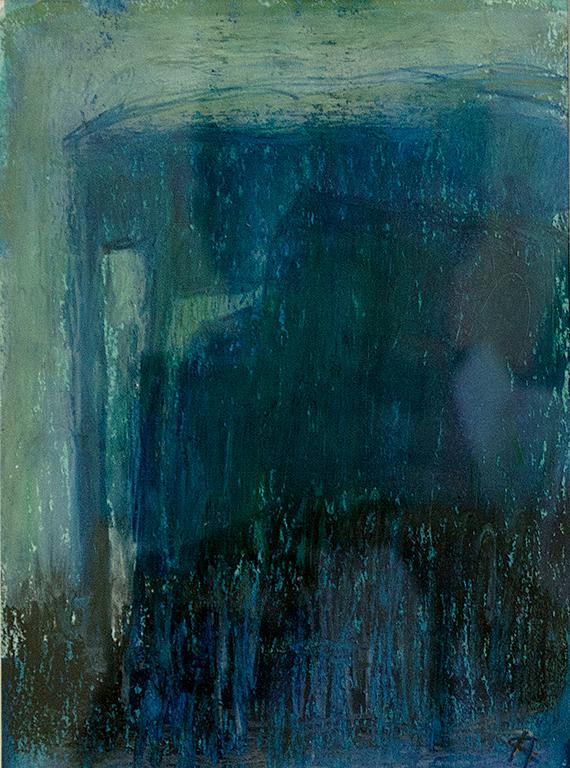 Vårkväll: Mått: 20 x 14 cm. Material: Pastell.