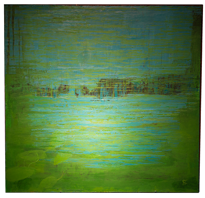 Sommar: Mått: 61 x 63 cm. Material: Akryl.