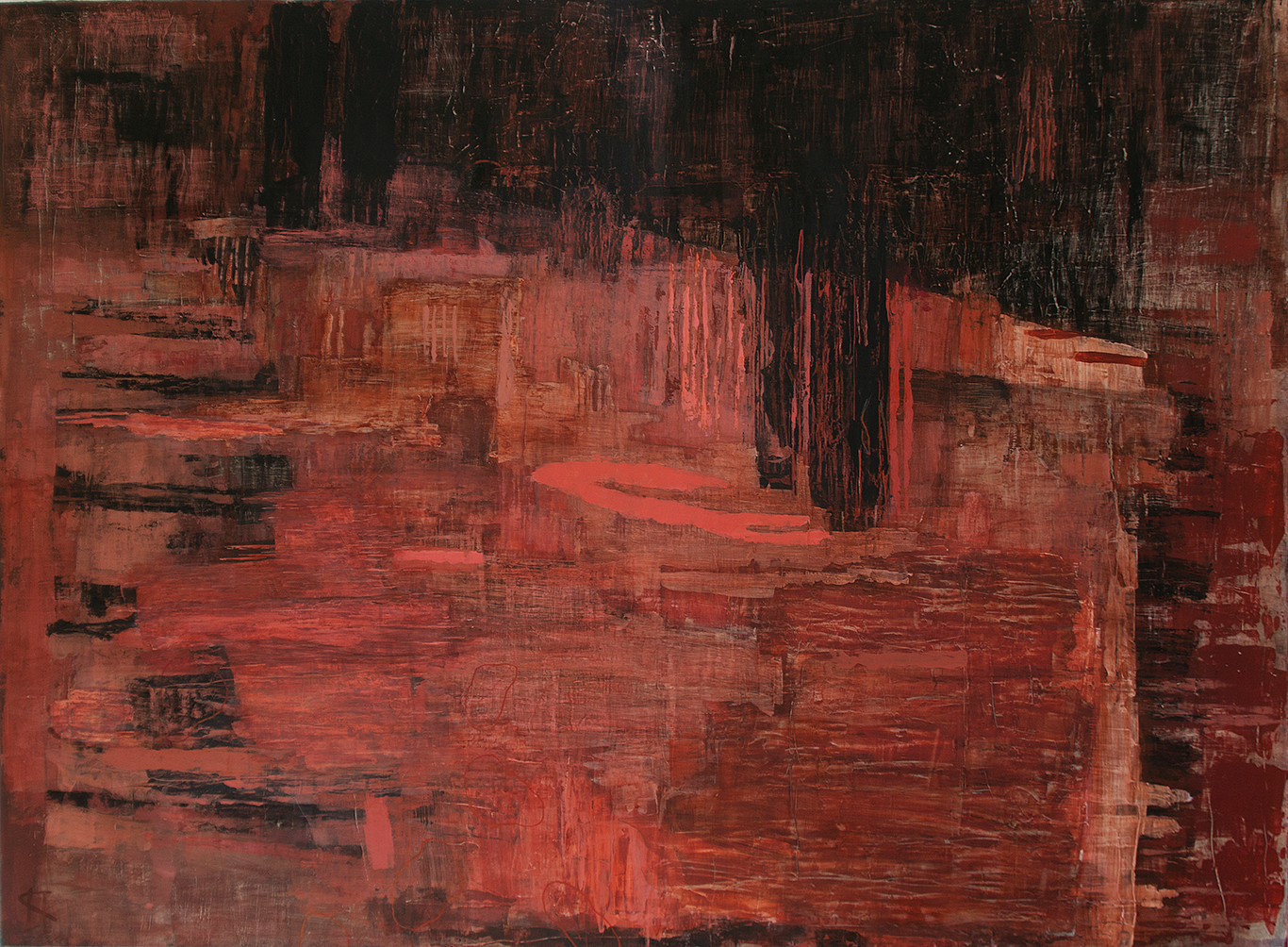 Inre rum: Mått: 122 x 90 cm. Material: Akryl.