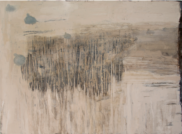 Våren kommer: Mått: 122 x 90 cm: Material Akryl.